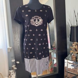 Beautiful black and silver sailing queen dress